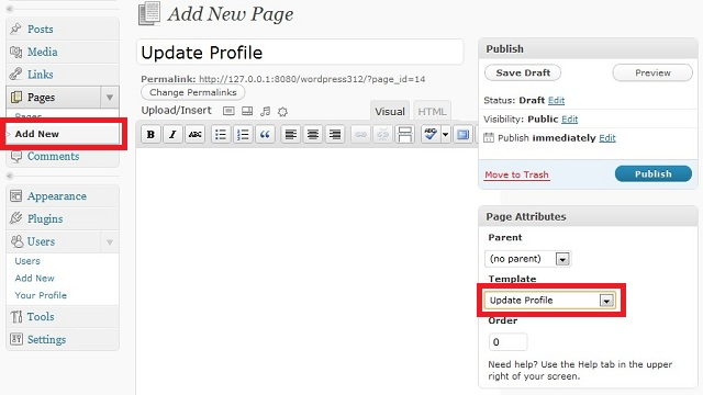 WordPress Create Custom Update